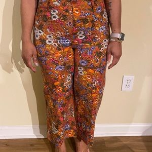 Anthropology Floral pants